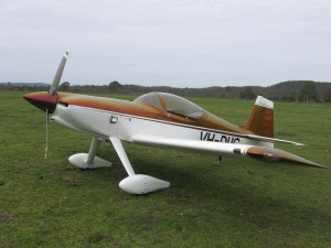 This Formula 1 Rocket owned by Nanango local Spider Webb flew in for the first time at the May fly in