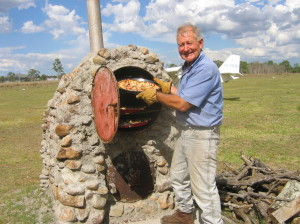 The pizza oven was put to the test and a great success