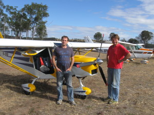 Walter and friend from Gympie are regular visitors. Remember Gympie has a breakfast at their airport first Sunday of the month