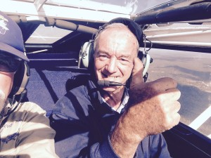 Paul starting his tail endorsement on his rebuilt Sky Fox, we think you enjoyed your first flight immensely