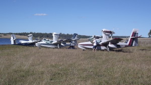 3 Buccaneers proudly parked on the edge of Lake Barambah