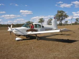 New members Charlie & Ellen with their beautiful Grumman Tiger at Sylvan Springs airfield