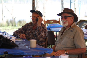 Glen Noble with his trusty mobile phone and our Flying Instructor Bill Grieve having a great time at the BP fly in
