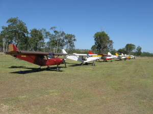 13 Savannahs flew into Angelfield for the record December fly-in of 42 planes