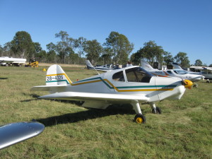 Tony King flew his new aircraft into our May fly in for brekkie