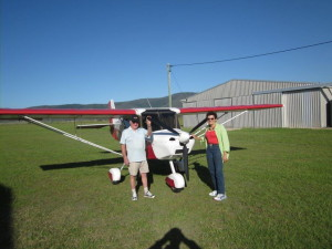 Werner & Helena who are club members and fly every Saturday in a Cessna 172 out of Redcliffe...will try and organize a lift from Caboolure this year with one or tow of our members