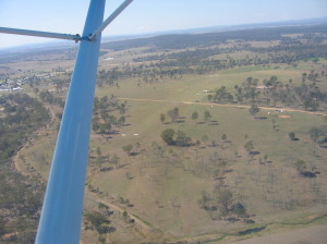 Angelfield with Murgon in the background(photo taken SW of the field