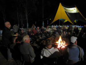 Bill reciting poetry to many who attended the weekend
