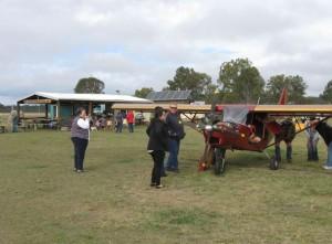 Murgon Rotary members checking out Ralph & Deb's aircraft