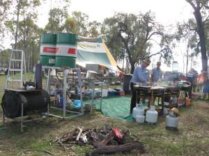Mobile camp at Lake Barambah