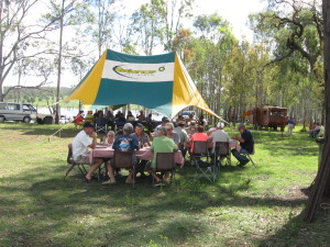 Our Marquee at the BP fly in was bulging with people who thoroughly enjoyed the weekend