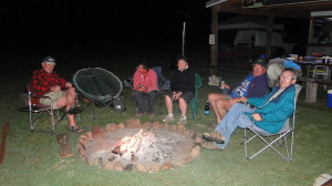 THE CAMPFIRE FRIDAY NIGHT WAS A GOOD PLACE TO SHARE SOME STORIES