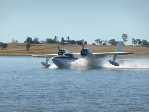 The Seaplanes were busy all weekend and fun to watch at Lake Barambah