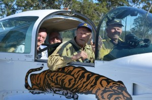 Paul, Ralph, Glen & Charlie heading out after the Angelfield Brekkie fly in to attend the re-opening of the Gayndah airfield